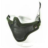 Airsoft Stahl Metall Netz Halbe Gesicht Maske Taktische Schutz Streik Paintball