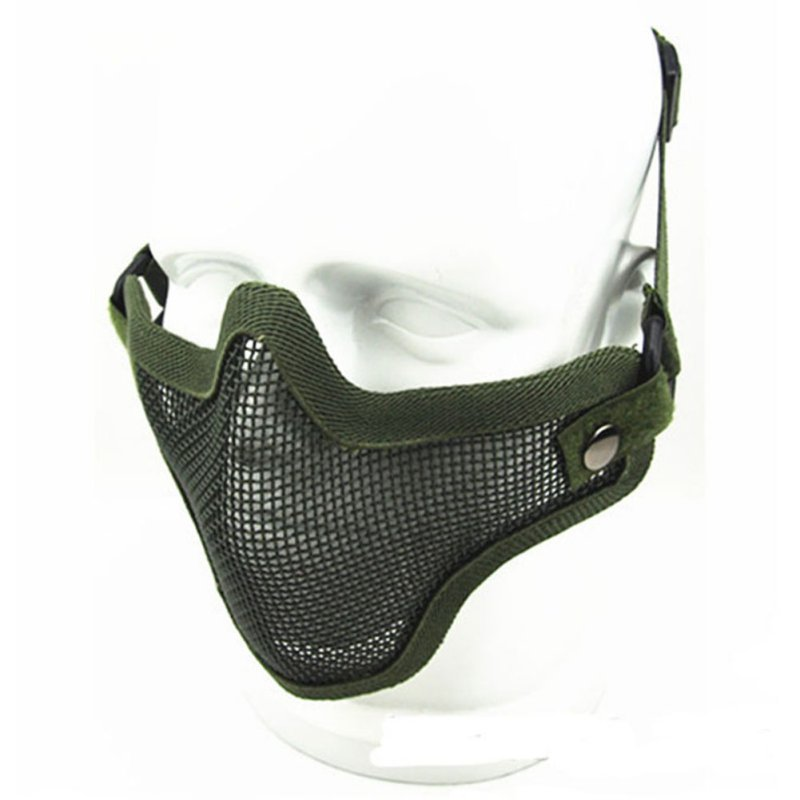 Airsoft Steel Metal Mesh Half Face Mask Tactical Protective Strike Paintball