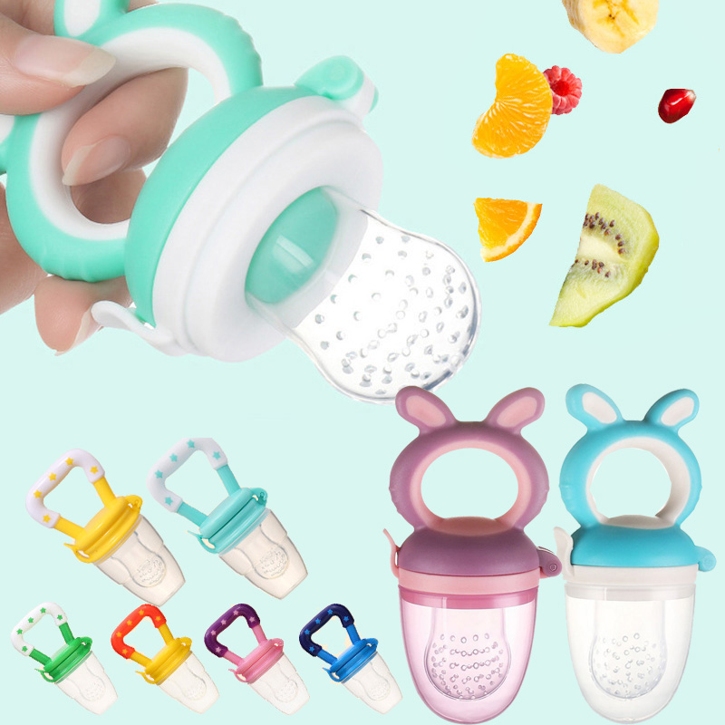 Baby Pacifier Fresh Fruit Food Kids Nipple Feeding Safe Milk Feeder Baby Bottles Teat Nibbler Drop Shipping Baby Accessories