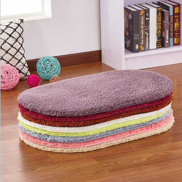 80 x 50CM Bathroom Carpets Absorbent Non-slip Soft Memory Plush Shower Mat Bath Bathroom Floor Foam