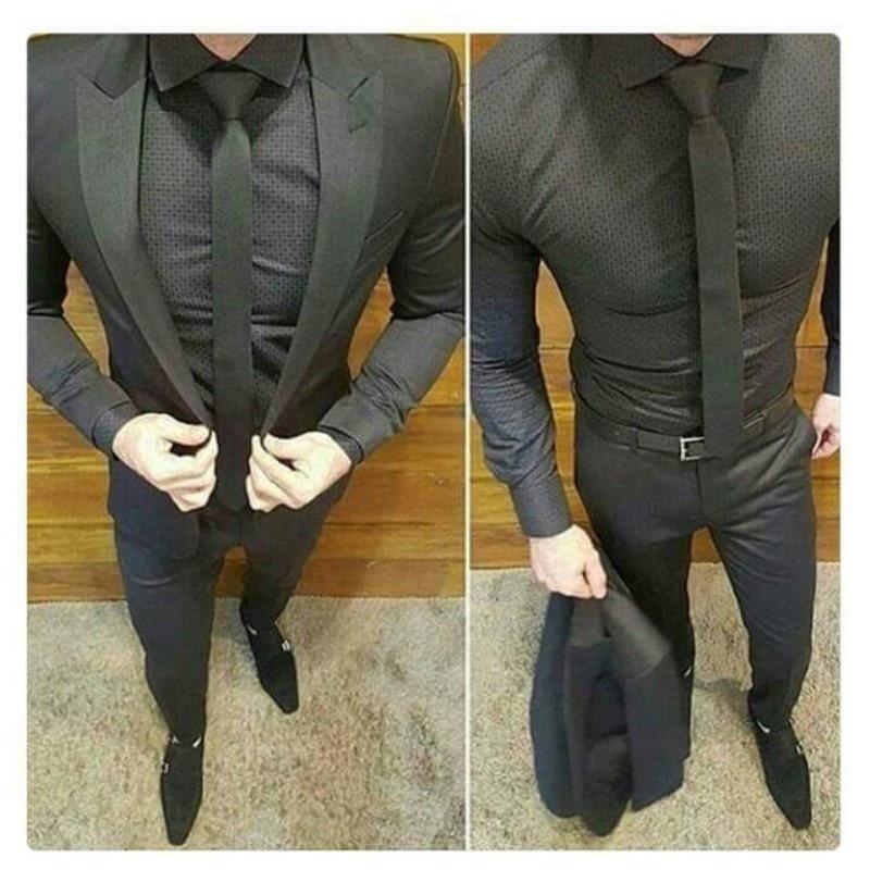 Un Six The 2 Buste Boutons Mens As Image Costume Pantalon Pièces 2018 Hommes Veste 240 De Mode Pour Après Mariage Costumes custom Made Marié Smokings qTrOw1qx