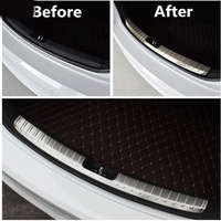 FIT FOR Hyundai ELANTRA 2016 2017 AVANTE INNER REAR BUMPER PANEL PROTECTOR TRUNK BOOT DECK CARGO SILL COVER PLATE THRESHOLD
