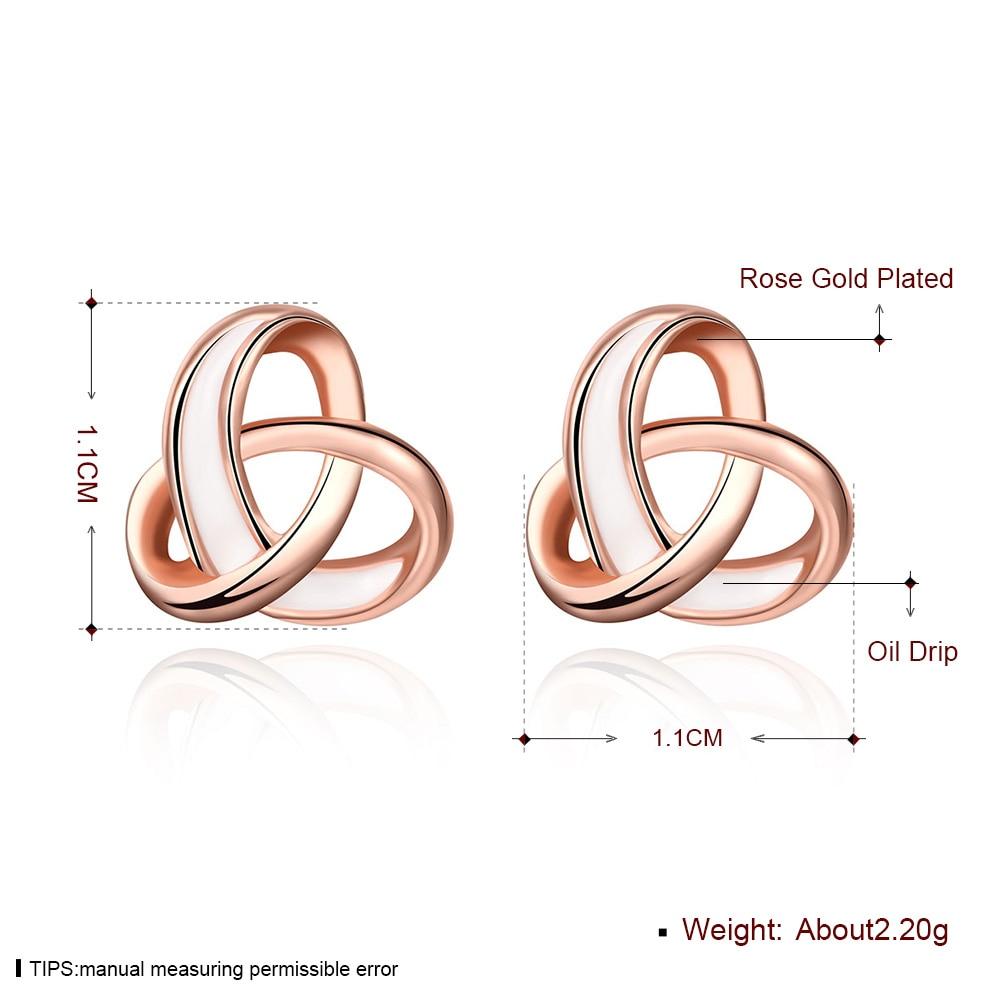 Simple Wire Twisted Earrings Corss Intersect Joint Stud Earrings Rose Golden Colour Mini Earrings Women Gift Jewelry