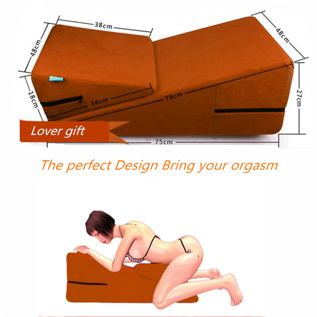 Us 93 99 Sex Furniture Sex Chair Wedge 2 Piece Triangle Sponge Pad Adult Pillows Sex Cube Sofa Bed Home Diy Love Bed For Couples Sex Game In Sex