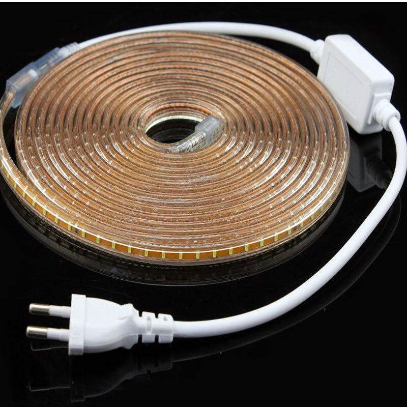 220 V 3014 5050 2835 5730 led bande Flexible Lumière de Bande Led Bande lumière Avec Plug Power led Ruban 50 M 100 M tira pour la maison décorer