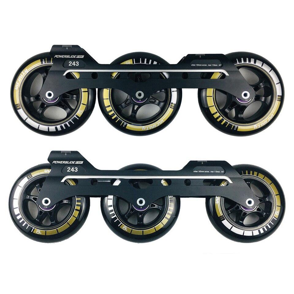 Powerslide Speed Inline Skates Base 243mm Frames 3 110mm Wheels Roller Skating Basin ILQ 11 Bearing