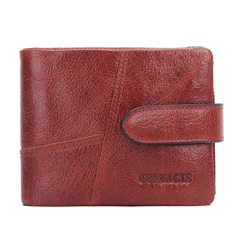 Контакта из натуральной яловой кожи Для женщин кошельки, модный кошелек держатель для карт женский бумажник Сумка-клатч с ремешком на запястье, сумочки известного бренда Carteira Feminina