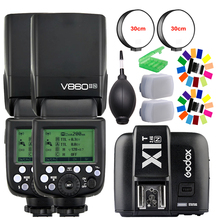 Godox ving v860ii gn60 v860ii-n i-ttl flash speedlite hss 1/8000 con batteria li-ion for nikon dslr + kit regalo