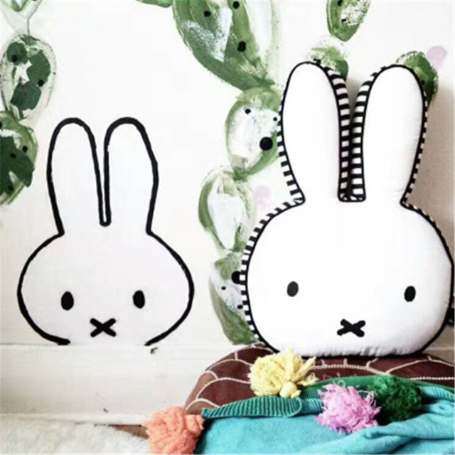 Nordic Baby Room Decor Cute Cushion Rabbit Decoration Pattern Cotton Plush Cushions Bunny Pillows Children Toy