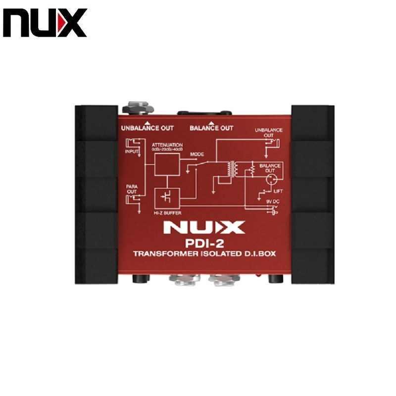 NUX pdi-2 Гитары бас директ-бокс трансформаторный di-бокс с отключаемым Ground Lift идеально подходит для сцены и Studio