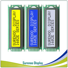 Left Interface 162 16X2 1602 Character LCD Module Display Screen LCM Yellow Green Blue with LED Backlight