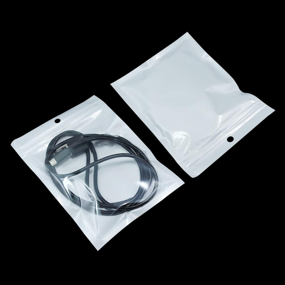 1200Pcs Lot 7 5 12cm White Clear Self Seal Zipper Plastic Retail Packaging Bag Ziplock Zip