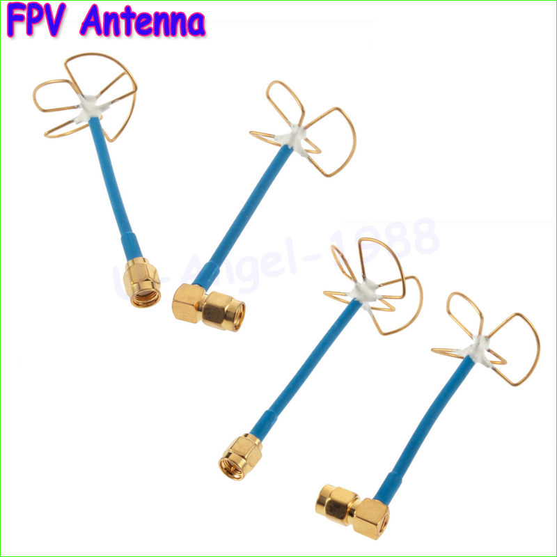 2pcs/lot  FPV 5.8Ghz Circular Polarized Clover Leaf Antenna High Gain Aerial Set (1 pair) Wholesale Dropship