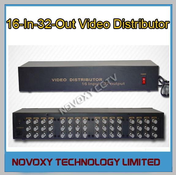 Envío Libre 16 En 32 Distribuidor de Vídeo Compuesto BNC amplificador de $ number CANALES A Splitter Para CÁMARAS de Seguridad CCTV DVR 32CH sistema