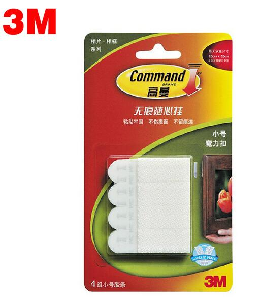 32pcs4pack 3m Command Damage Free Small Picture Hanging Strips