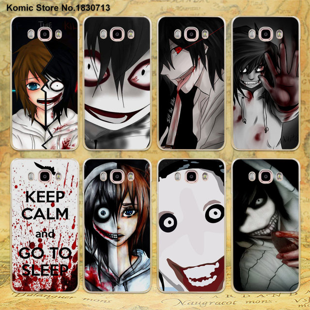 Anime Jeff The Killer Clear Thin Mobile Phone Shell Case For Samsung J3 J7 2016 J2Prime