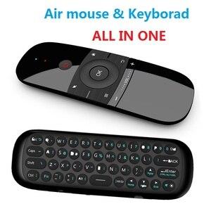 Беспроводная Клавиатура MINI Air Mouse W1 на русском/английском языке 2,4G, распознавание, летающий воздух, мышь для 9,0, 8,1, Android TV Box/PC/TV