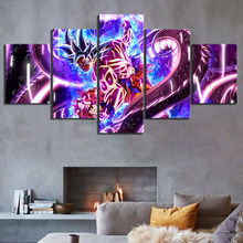 Kids Room Modular Frame HD Print Painting 5 Piece Animation Goku Dragon Ball Poster Home Decor Wall Art Abstract Canvas Pictures(China)