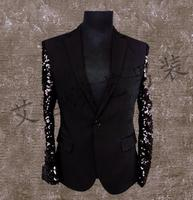Men Suits Designs Homme Terno Stage Costumes For Singers Men Sequin Blazer Dance Clothes Jacket Style