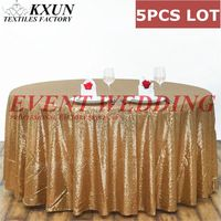 5PCS LOT Round Sequin Table Cloth Wedding Tablecloth Cover For Event Decoration