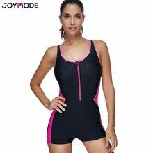 abffa128104d8 JOYMODE Monokini Sport Swimwear One Piece Swimsuit For Women Zip Front  Padded