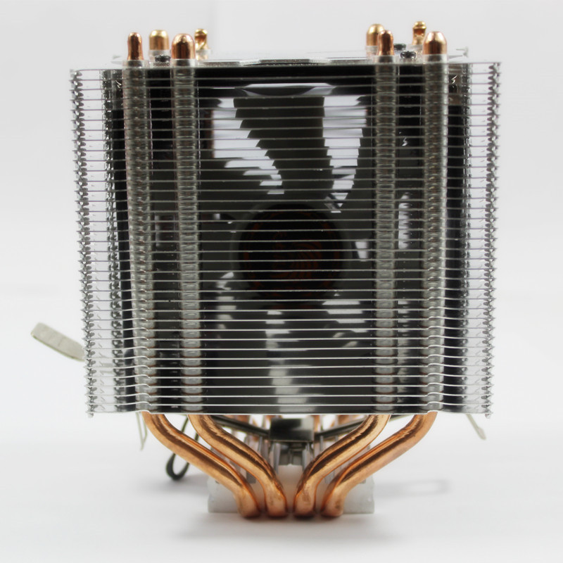 3Pin CPU Quiet Cooler 4 Heatpipe Radiator Heatsink for Intel for LGA1150 1151 1155 775 1156 Fan Cooling for Desktops Computer universal cpu cooling fan radiator dual fan cpu quiet cooler heatsink dual 80mm silent fan 2 heatpipe for intel lga amd