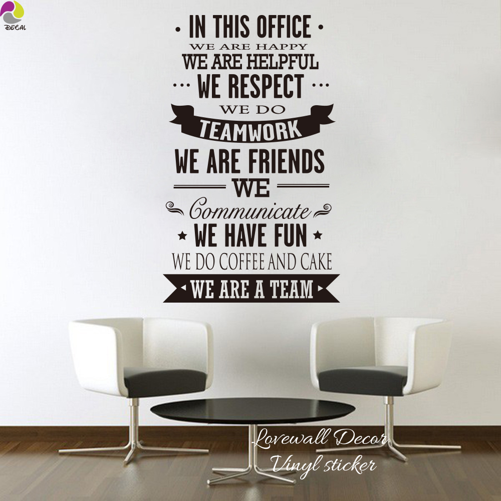 teamwork office wallpaper. In This Office Ultimate Typography Quote Lettering Wall Sticker Happy Helpful Teamwork Friend Inspiration Decal Decor Art-in Stickers From Home Wallpaper A