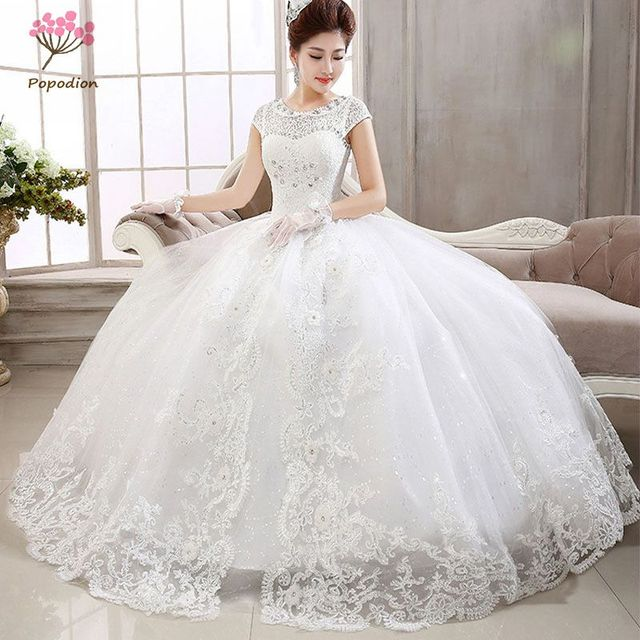 6994332d4f US $99.99 |Sexy lace bride ball gown princess wedding dress women plus size  bandage wedding dresses WED90134-in Wedding Dresses from Weddings & Events  ...