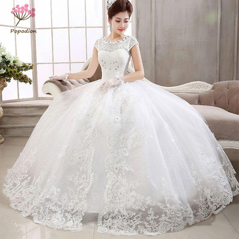 Online Get Cheap Short Wedding Gowns for Plus Size Women