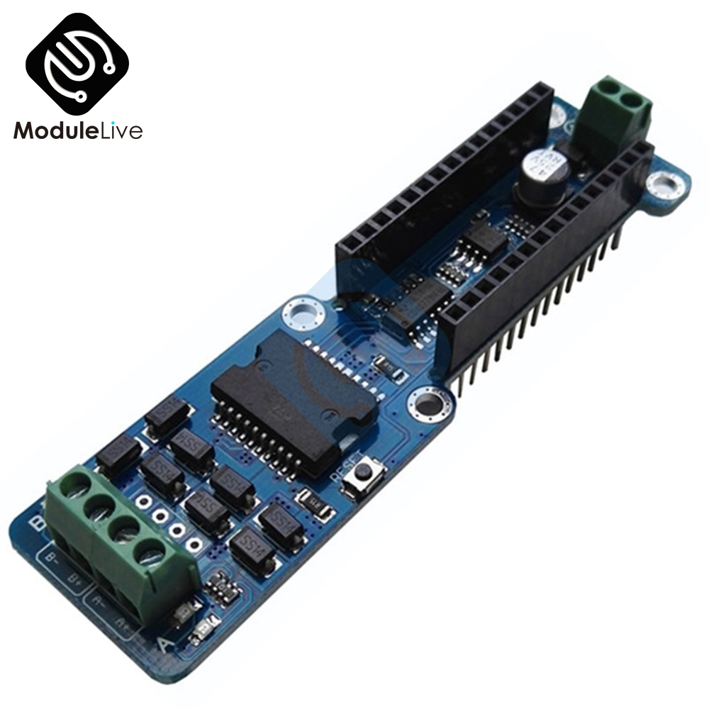 L298P 2A DC Stepper Motor Driver Shield Dual Channel Module For Arduino Nano 3.0 IDE 5-12V Dual Channel Full H-Bridge Board 5v 2 channel ir relay shield expansion board for arduino