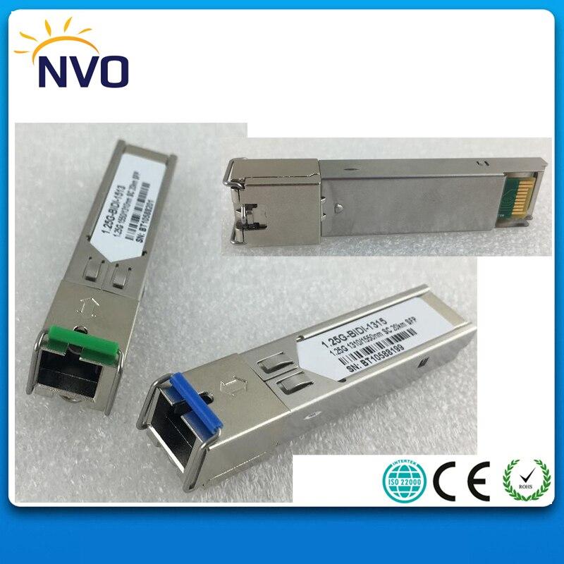 Il trasporto Libero 1.25g, SM, WDM, 1310/1550, 20 km, SC Modulo In Fibra, compatibile con Cisco Codice, DDM, BiDi SC Fibra Ottica SFP Transceiver