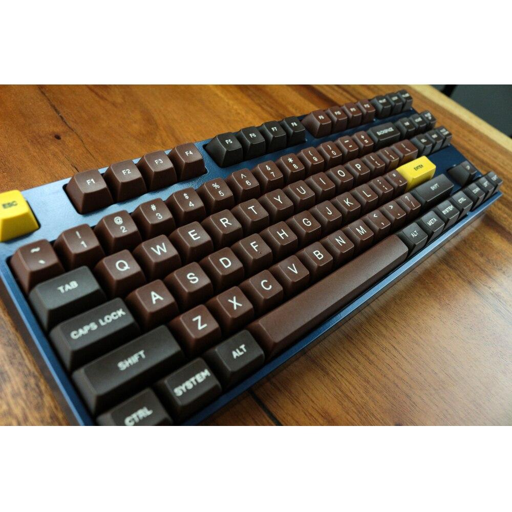 MP chocolat coloriage 123 touches SA PBT Keycap polices Keycap Cherry MX interrupteur keycaps pour filaire USB mécanique clavier de jeu