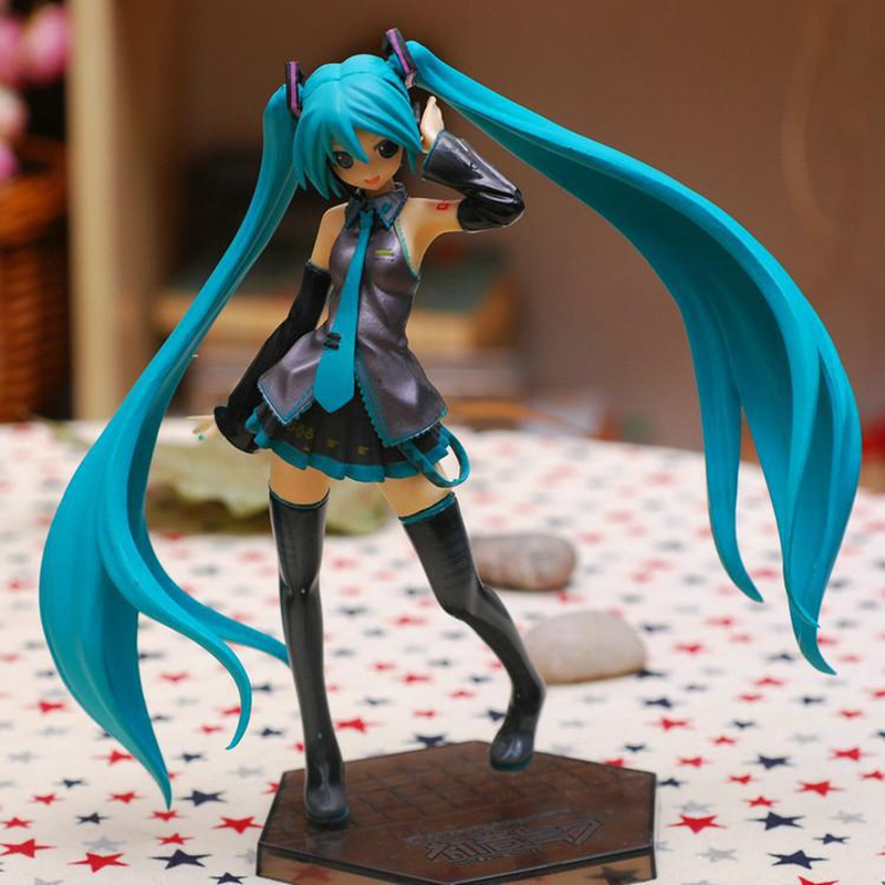 Hatsune Miku Action Figure PVC Anime Collectible Model Toy Doll 18CM Height Nendoroid for Kids cute 10cm nendoroid hatsune miku mid autumn miku pvc action figure collection model toy doll christmas birthday gift with box