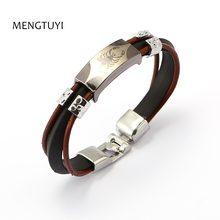 47476adef721 Mengtuyi 12 unids lote múltiples capas silicona Brazaletes escorpión pulsera  hombres moda punk joyas pulseira masculina