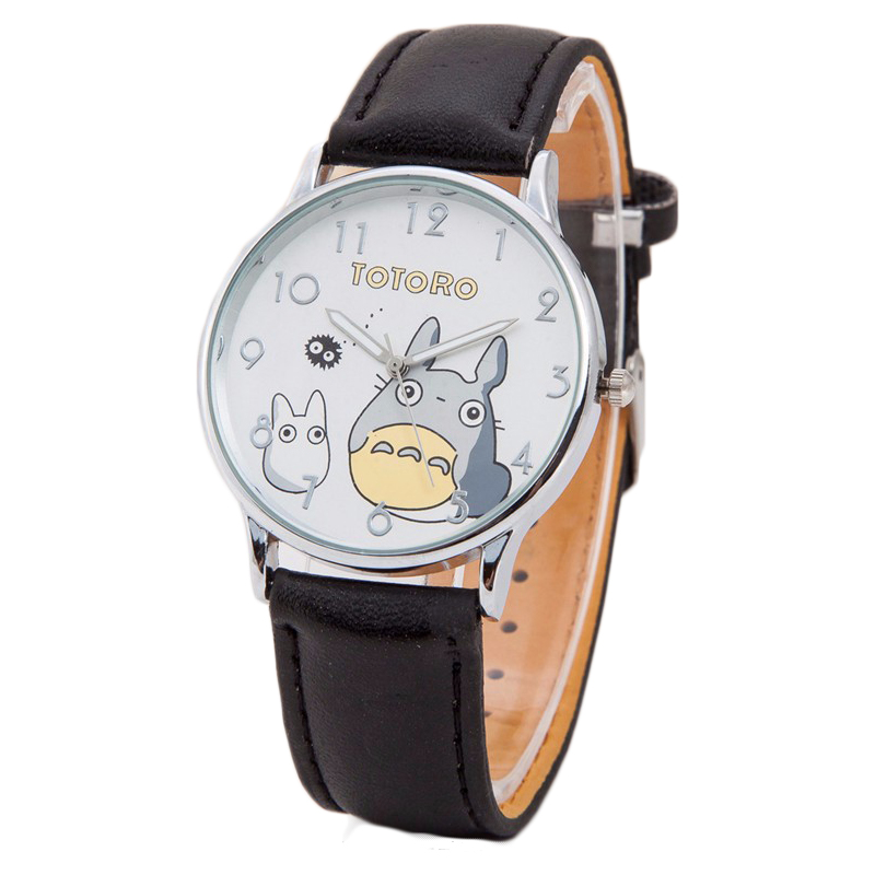 Fashion Watch Women Quartz Watches Leather Totoro Cartoon Kids Watches Casual Dress Wrist watches Clock Gift Relojes Mujer 2016 2015 new fashion cute children cartoon watches big cat women dress watch rhinestone kids watches reloj mujer kids clock ac079