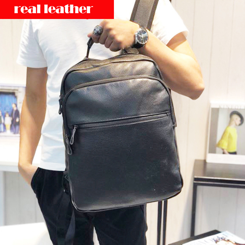 New Brand 100% Genuine Leather Men Backpacks Real Natural Leather Student Backpack Boy Luxury Fashion Lager Computer Laptop BagNew Brand 100% Genuine Leather Men Backpacks Real Natural Leather Student Backpack Boy Luxury Fashion Lager Computer Laptop Bag