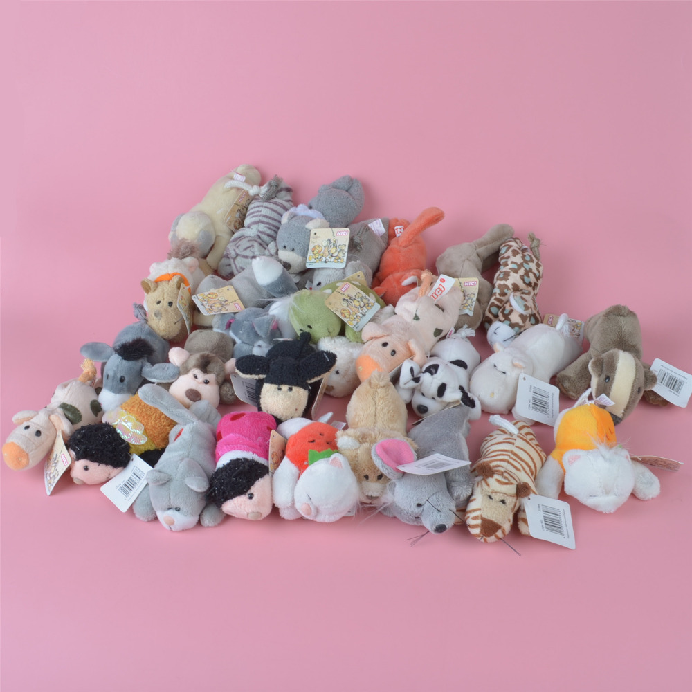 10 Pcs Plush Animals Fridge Magnet Toy, Baby Kids Plush Toy Gift Free Shipping
