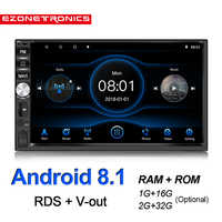 7inch Android 8.1 Quad Core DDR2G-32G Car radio Multimedia Video Player Mirror Link Universal Wifi Bluetooth auto Stereo GPS RDS