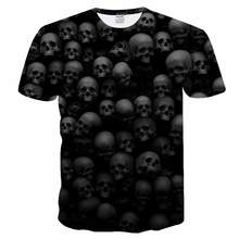 hot deal buy bianyilong 2018 new skull and rose 3d printed t-shirt men women tees summer casual short sleeve o-neck tops tees  free shipping