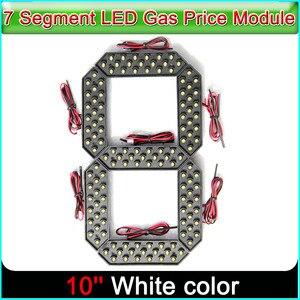 "Image 1 - 10 ""לבן צבע Digita מספרי תצוגת מודול LED סימנים 7 קטע של מודולים, 7 מגזר LED גז מחיר מודול"