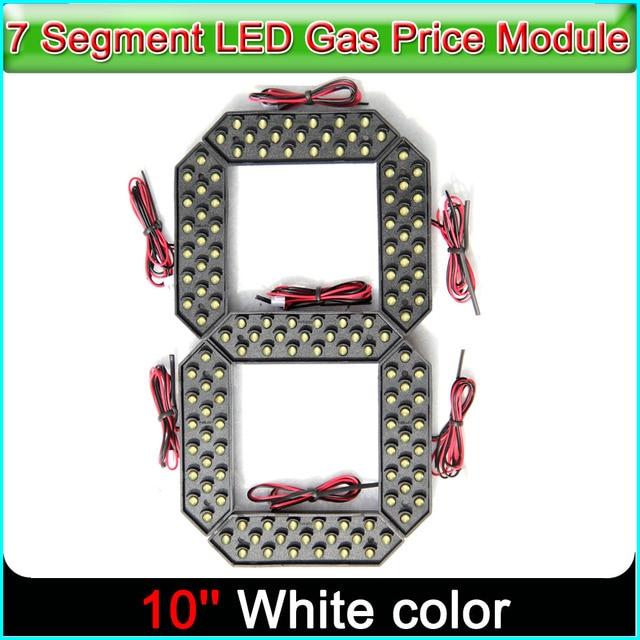 """10 """"לבן צבע Digita מספרי תצוגת מודול LED סימנים 7 קטע של מודולים, 7 מגזר LED גז מחיר מודול"""