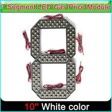"""10 """"couleur blanche Digita numéros Module daffichage panneaux de LED 7 segments des Modules, 7 segments LED Module de prix du gaz"""