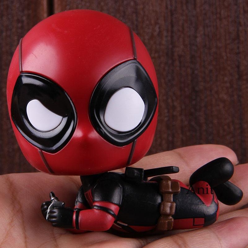 Marvel Cosbaby Deadpool lounging deadpool Bobble Head Doll PVC Action Figure