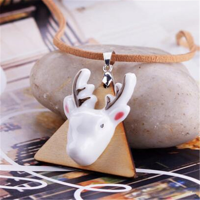 Free shipping Handmade three dimensional necklace jewelry ceramic wood jewelry small fresh ornaments necklace for women
