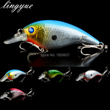 New Arrival Sale 1pcs Hard Fat Crank Fishing Lures 4 colors Available 7 5cm 11g Floating