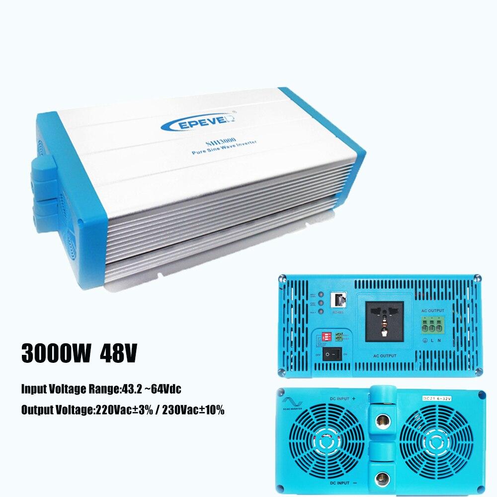 Off-Grid Inverter Pur Onde sinusoïdale 3000 Watt 48 V 220 V EPsolar Économie D'énergie AC à DC Convertisseur avec Vaste Protections
