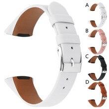 SmartWatch Relógio Inteligente Pulseira Smartband mi banda de Luxo de Couro Acessórios Pulseira de Tiras de Substituição Para Fitbit Carga 3 Inteligente