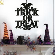Letter WITCH IS IN Trick Or Treat Indoor And Outdoor Halloween Hanging Decoration Wall Signs