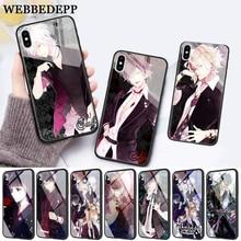 WEBBEDEPP Diabolik Lovers Japan Anime Glass Phone Case for Apple iPhone 11 Pro X XS Max 6 6S 7 8 Plus 5 5S SE