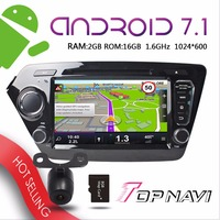 TOPNAVI 8'' Android 7.1 Car PC for KIA K2 Rio 2011 2012 Automotive Vehicle Auto GPS Navigation Free Map Update Rear Camera